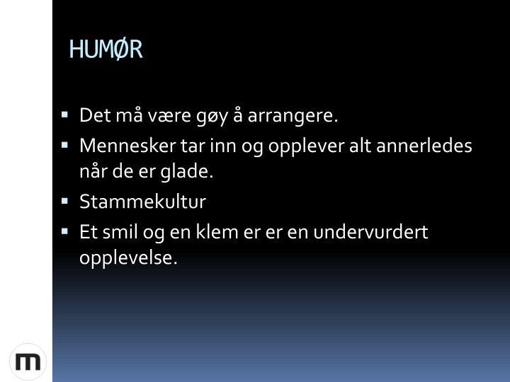 HUMØR