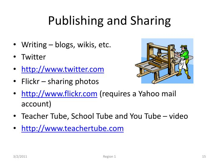 Publishing and Sharing