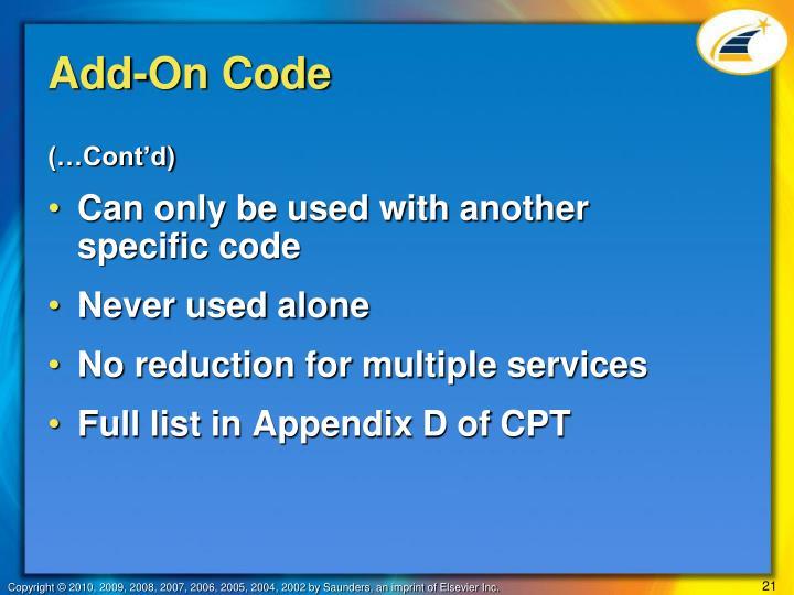 Add-On Code