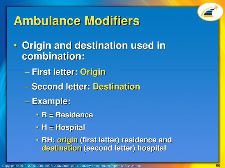 Ambulance Modifiers