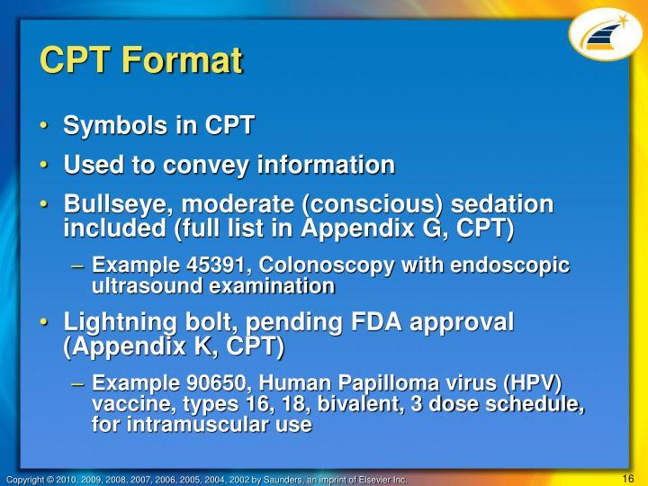 CPT Format