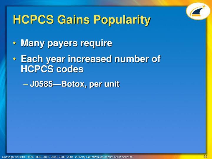 HCPCS Gains Popularity