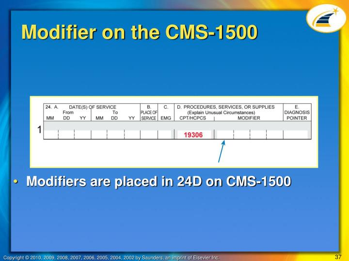 Modifier on the CMS-1500