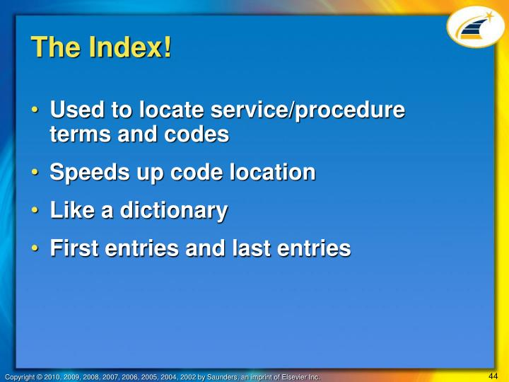 The Index!