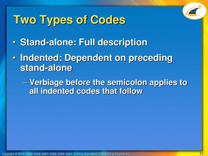 Two Types of Codes