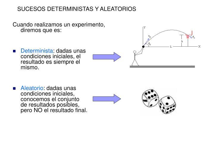 SUCESOS DETERMINISTAS Y ALEATORIOS