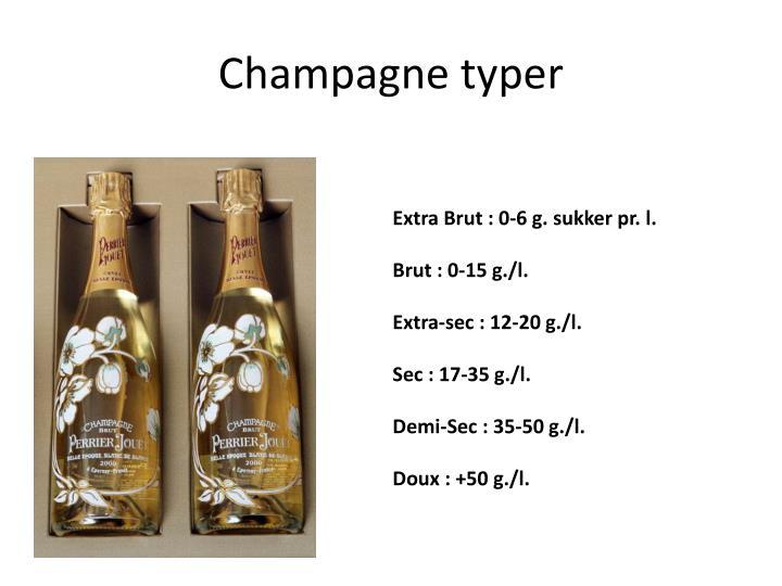 Champagne typer