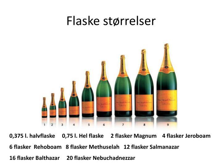 Flaske størrelser