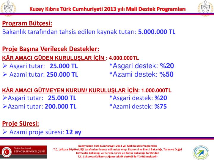 Program Bütçesi: