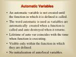 automatic variables