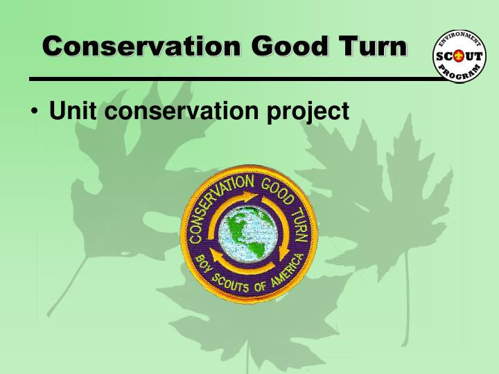Conservation Good Turn