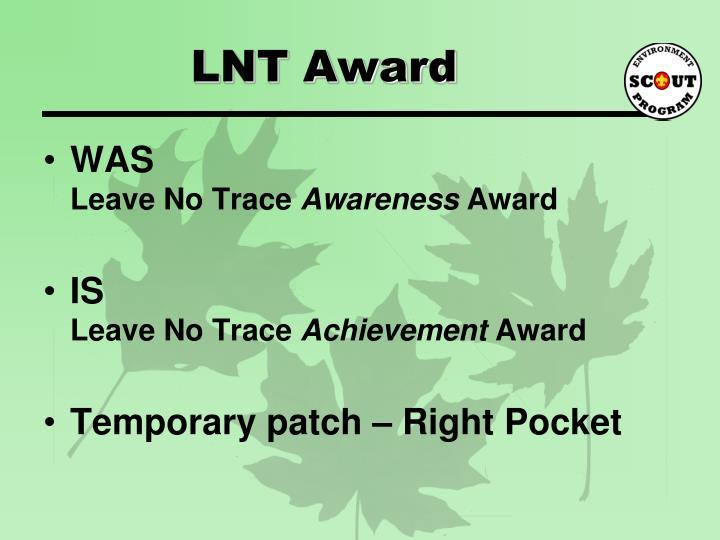 LNT Award