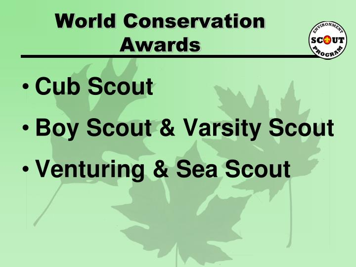 World conservation awards