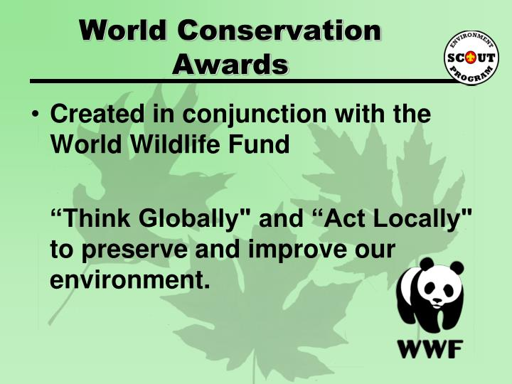 World conservation awards1