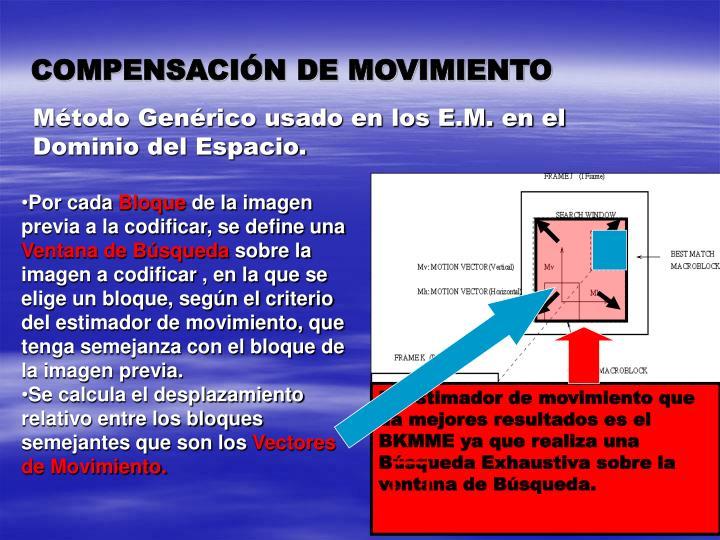 COMPENSACIÓN DE MOVIMIENTO
