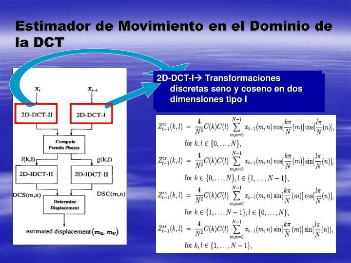 Estimador de Movimiento en el Dominio de la DCT