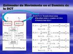 estimador de movimiento en el dominio de la dct1