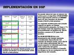implementaci n en dsp1