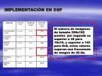 implementaci n en dsp2