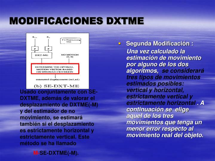 MODIFICACIONES DXTME