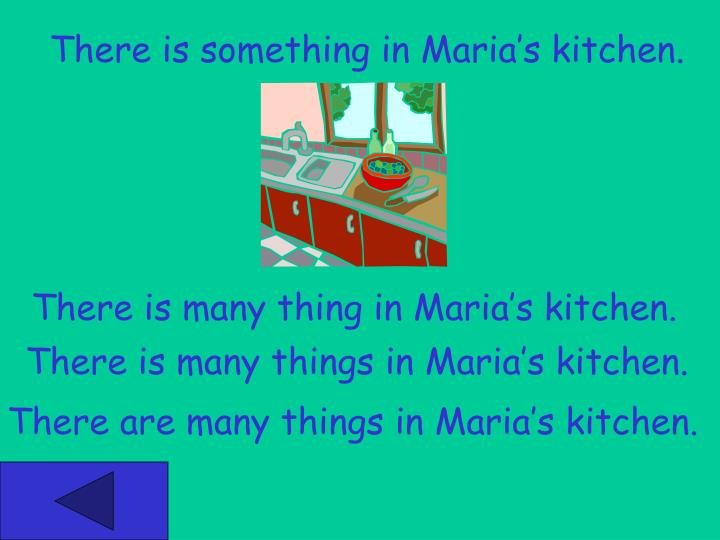 There is something in Maria's kitchen.