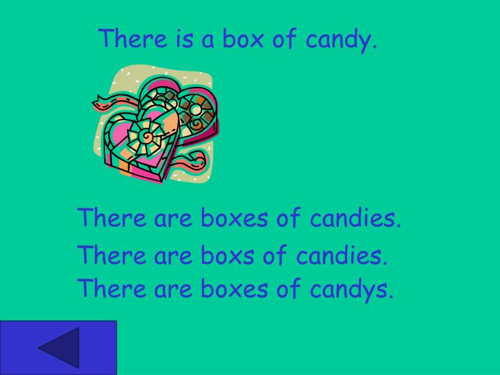 There is a box of candy.