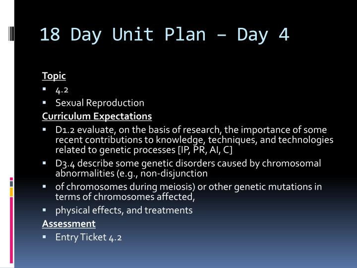 18 Day Unit Plan – Day 4