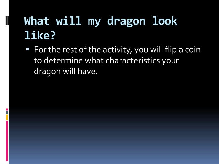What will my dragon look like?