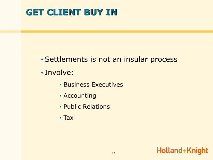 GET CLIENT BUY IN