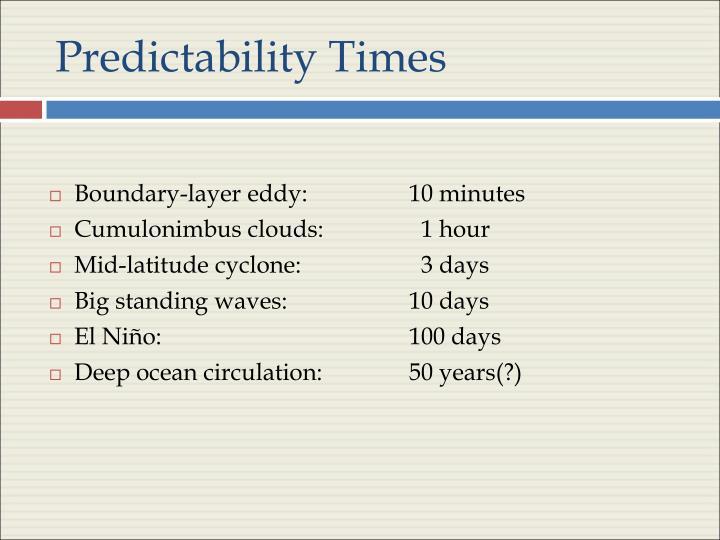 Predictability Times