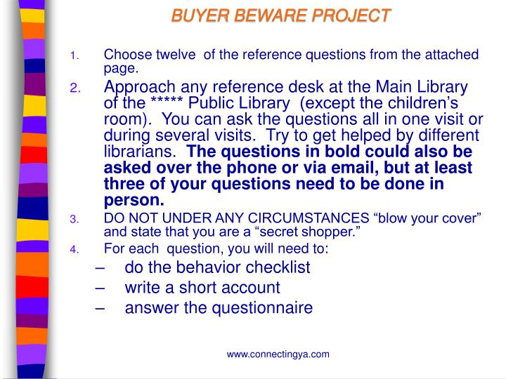BUYER BEWARE PROJECT