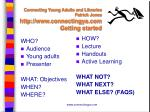 connecting young adults and libraries patrick jones http www connectingya com getting started