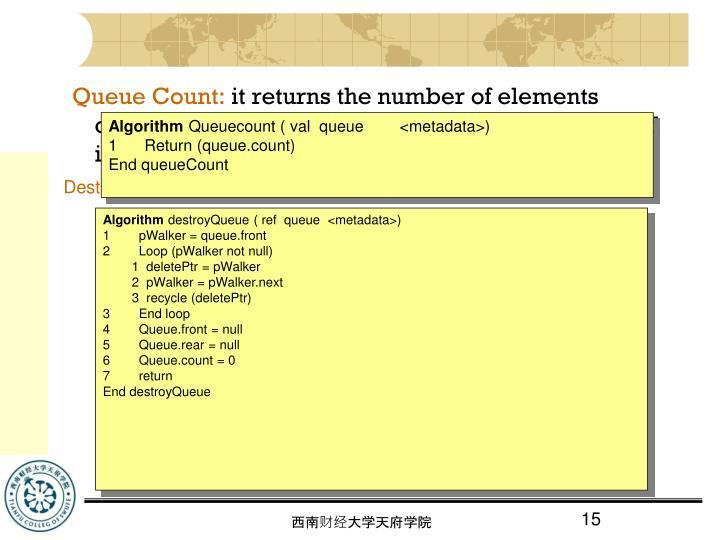 Queue Count: