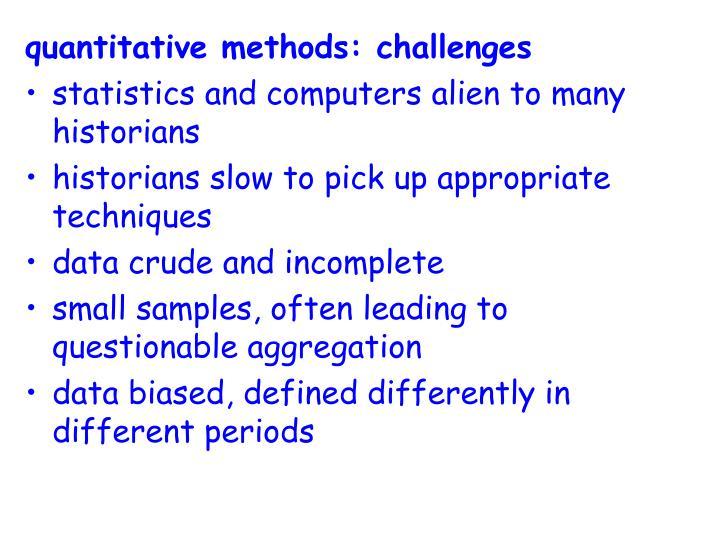 quantitative methods: challenges