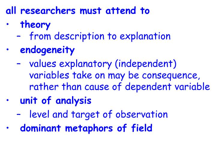 All researchers must attend to