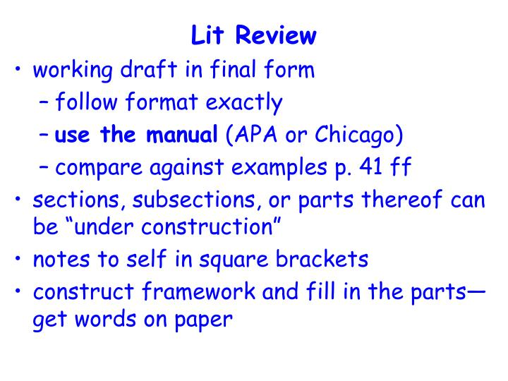 Lit Review