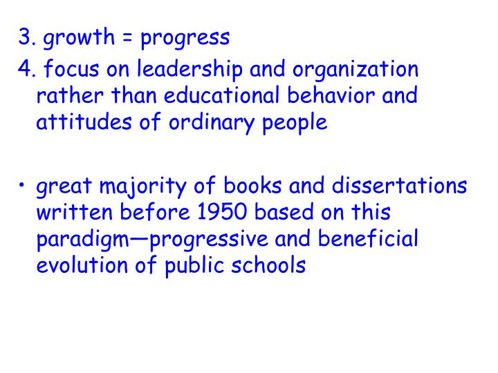 3. growth = progress