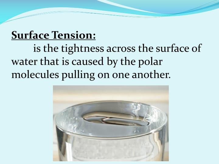 Surface Tension:
