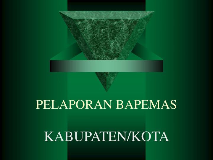 PELAPORAN BAPEMAS