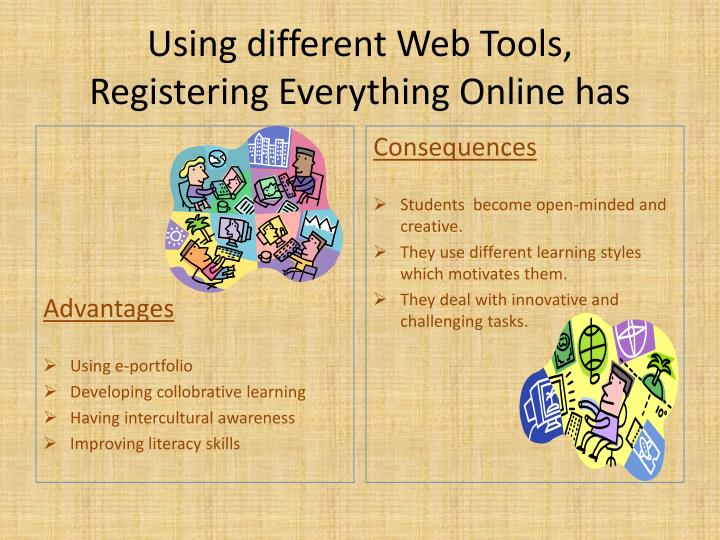 Using different Web Tools,
