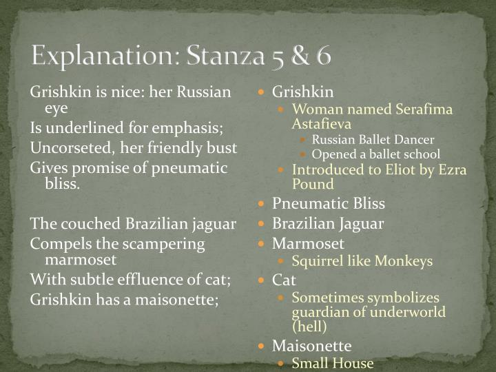 Explanation: Stanza 5 & 6