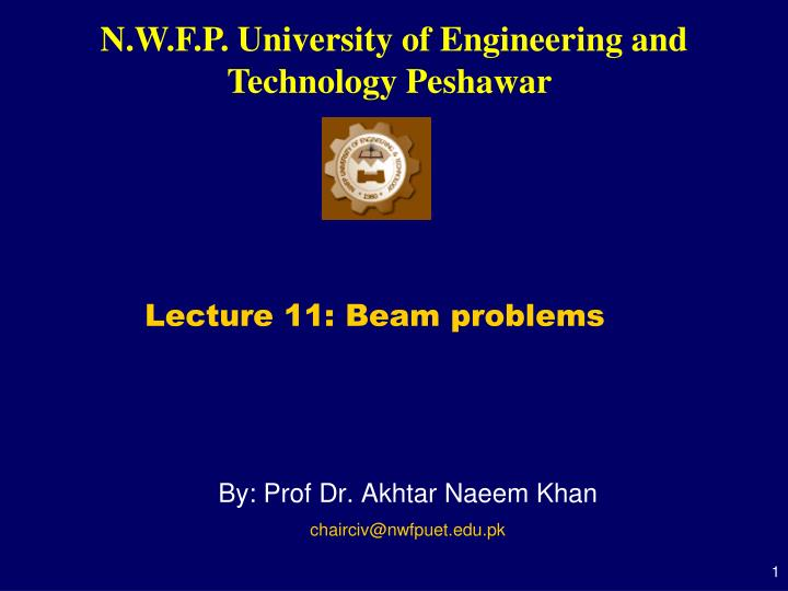 Lecture 11: Beam problems