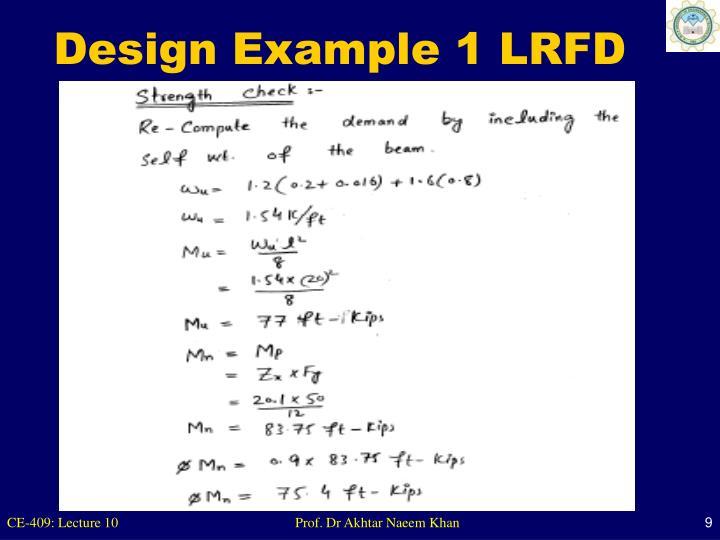Design Example 1 LRFD