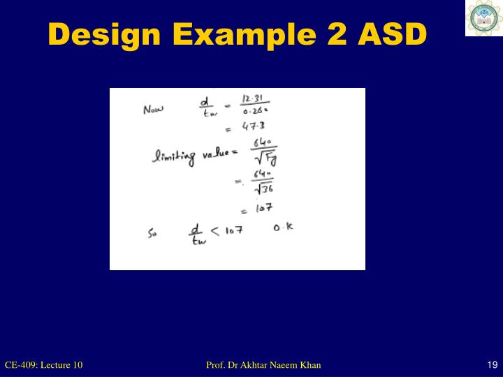 Design Example 2 ASD