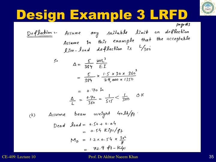 Design Example 3 LRFD