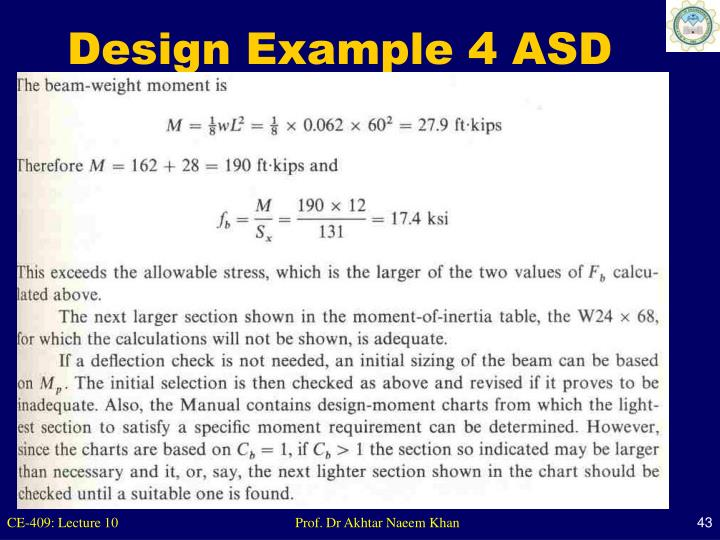 Design Example 4 ASD