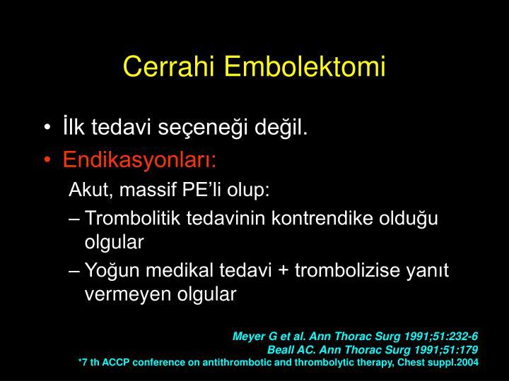 Cerrahi Embolektomi