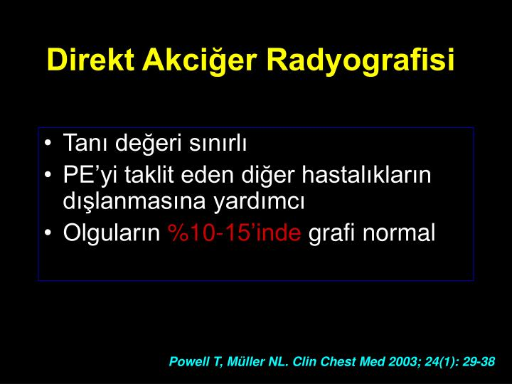 Direkt Akciğer Radyografisi