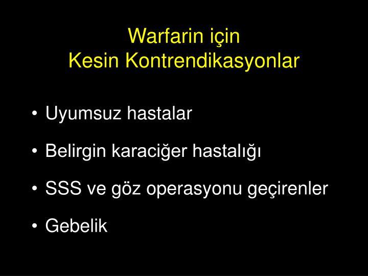 Warfarin için