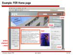 example fer home page
